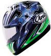 Arai RX7 Corsair Full-Face Helmet Nakano Shuriken Green