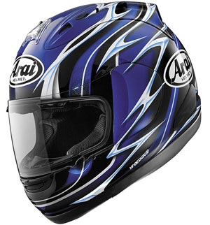 Arai RX-7 GP Randy Mamola - Blue Replica Helmet: