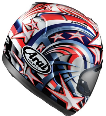 Arai RX7 Corsair Colin Edwards Helmet (White)